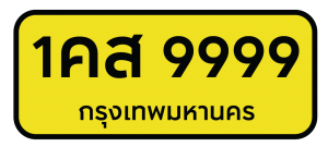 license plate-yb